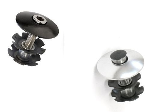 "Alloy 1"" Bike AHead Headset Top Cap Star Fangled Nut & Bolt"