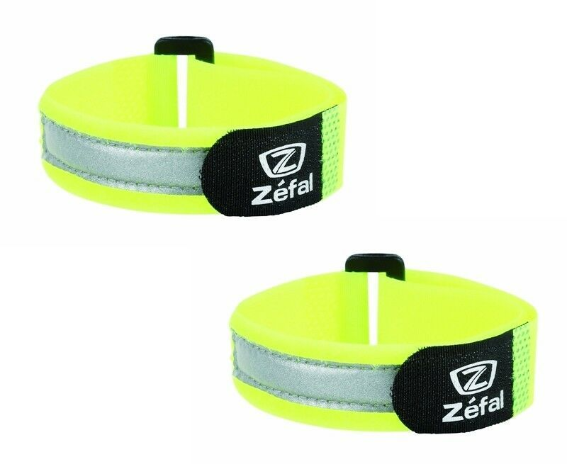 Yellow Pink with Bonus reflective sticker Pair LW Reflective Ankle Band Wristband