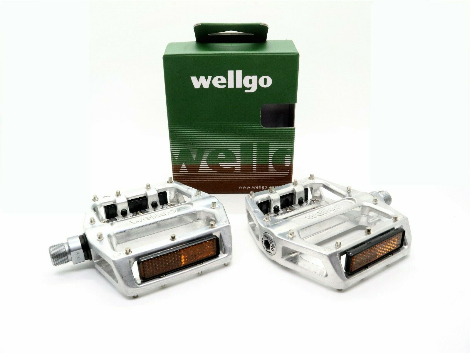 WELLGO Alloy BMX Mountain Bike Pedals Silver